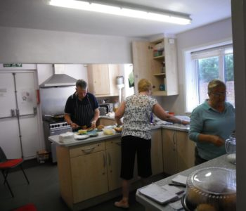 Friday Market Catering Team are always busy..